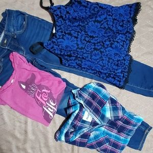 Girls Jean's and Shirts